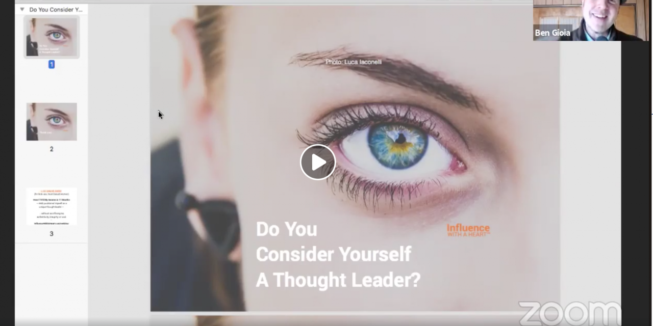 Do You Consider Yourself A Thought Leader?