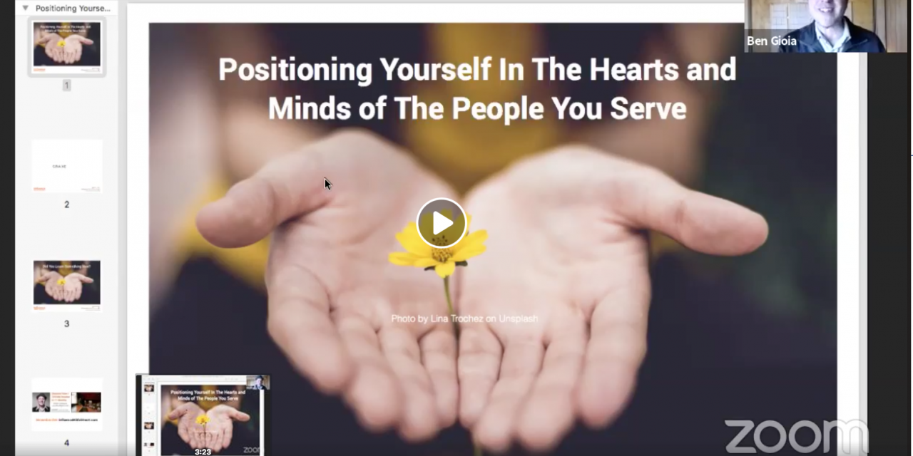 Positioning Yourself In The Hearts & Minds of The People You Serve