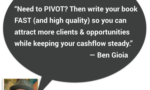 Using your book for the right pivots BEHIND your BIG PIVOT